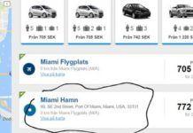 Lämna tillbaka hyrbilen Miamis hamn